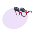retro wayfarer sunglasses with removable lenses vector image vector image