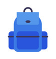 school backpack blue rucksack for students vector image