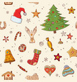 seamless festive pattern with traditional vector image vector image