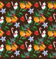 seamless pattern with christmas bouquets vector image