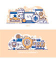seo business and cryptocurrency banner templates vector image vector image