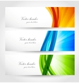 Set of banners with rays vector image vector image