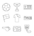 soccer and gear symbol vector image vector image