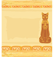 Stylized Egyptian cat vector image vector image