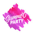 summer party pink brush background image vector image