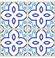 tiles pattern spanish or portuguese tile design vector image