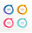trendy circle banners set with text space vector image vector image