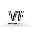 vf v f lines letter design with creative elegant vector image vector image