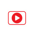 video icon stock flat design style vector image