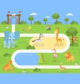 wild animals savanna and desert in zoo vector image vector image