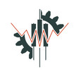 abstract trading emblem vector image vector image