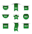 Advertising tags green colors vector image