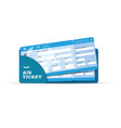 air ticket travel sign in blue vector image vector image