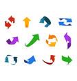 arrow 3d set colorful arrows symbols economy info vector image vector image