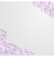 Background with paper flowers vector image vector image