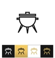 BBQ symbol or meal cooking grill icon vector image vector image