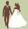 Beautiful wedding couple vector image vector image