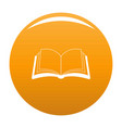 book information icon orange vector image vector image