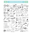 Business doodle elements set vector image