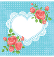 Card with hearts and flowers vector image vector image