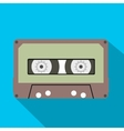 Cassette flat icon vector image