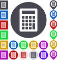 Color calculator icon set vector image vector image