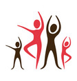 color pictogram of practice of ballet poses vector image vector image