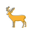 color reindeer animal to merry christmas vector image