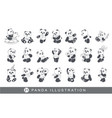 cute and funny panda vector image