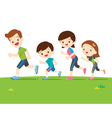 Cute family runing together vector image vector image