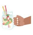 detox water in hand vector image