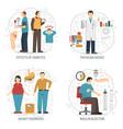 diabetes 2x2 design concept vector image vector image