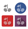 dotted icon sweet cherries in four variants vector image vector image