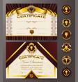 elegant template of certificate diploma vector image vector image