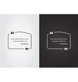 Empty Quote Template Bubble Template Set vector image vector image