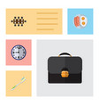 flat icon lifestyle set of dental boardroom vector image vector image