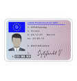 germany driver license card cartoon style vector image vector image