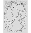 Germany Hand Drawn Map 02 A vector image