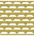 gold glitter geometric pattern background vector image vector image