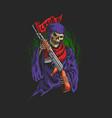 grimreaper use ak47 virus weapon vector image