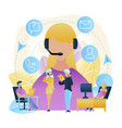 group people call center worker store vector image