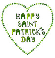 happy saint patrick s day hand drawn st vector image