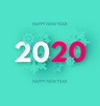 happynew 2020 year trendy color background with vector image vector image
