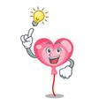 have an idea have an idea ballon heart mascot vector image
