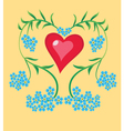 heart forget me not vector image