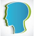 human head paper blue symbol head vector image vector image