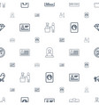 identity icons pattern seamless white background vector image vector image