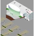 Isometric Hospital buildings vector image