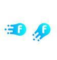 letter f logo abstract liquid bubble drop vector image