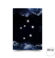 libra constellation of snowflakes zodiac sign vector image